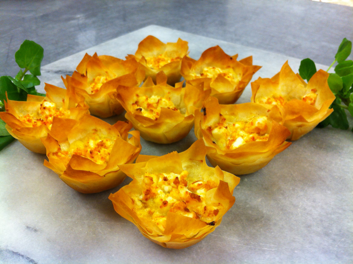 ... and our pumpkin and feta filo tarts have proved very successful with