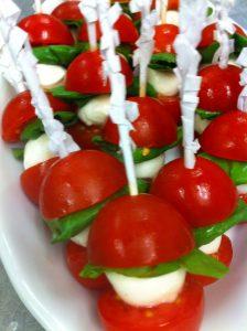 Tomato, Basil & Mozzarella Kebabs