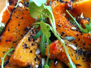 Pumpkin & Rocket Salad with Toasted Seeds