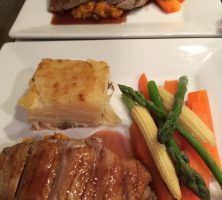 Pan Fried Duck Breast with Dauphinoise Potato