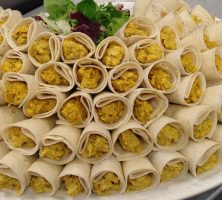 Home-made Coronation Chicken Cone Wraps