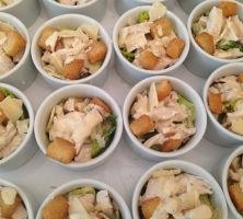 Mini Chicken Caesar Salads
