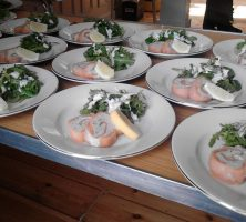 Smoked Salmon & Mackerel Roulade