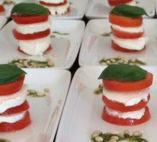 Tomato, Basil & Mozzarella Tower with home made Pesto