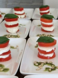 Tomato, Basil & Mozzarella Tower with home made Pesto
