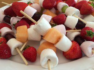 Kids fruit kebabs