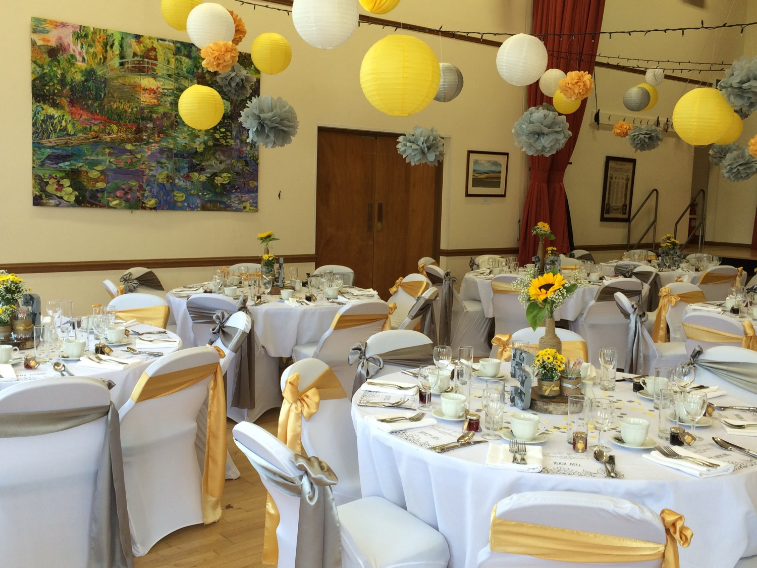 Village hall weddings in east sussex green fig catering company east dean village hall junglespirit Images