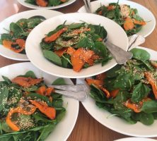 Roasted Butternut Squash & Spinach Salad