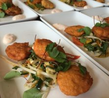 Thai fishcakes with Asian slaw