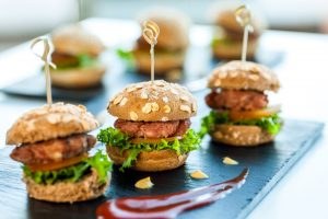Mini chicken burgers!
