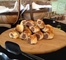 Home-made sausage rolls