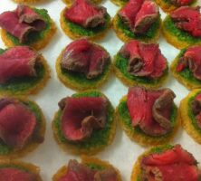 Fillet of beef canape