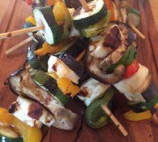 Vegetable & Halloumi Kebabs