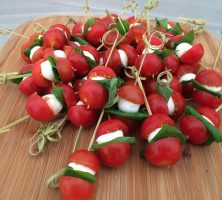 Tomato, Basil & Mozzarella Skewers