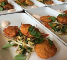 Thai fishcakes with Asian slaw