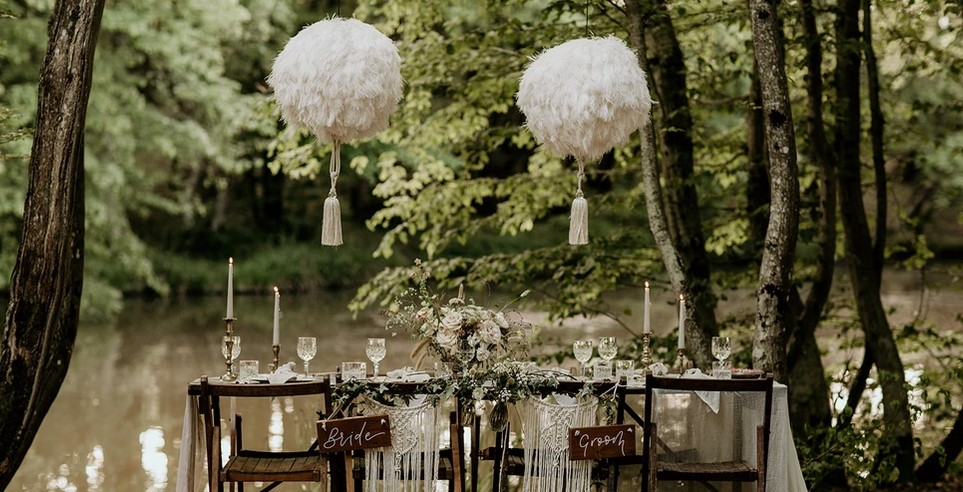 outdoor wedding at wickerwood